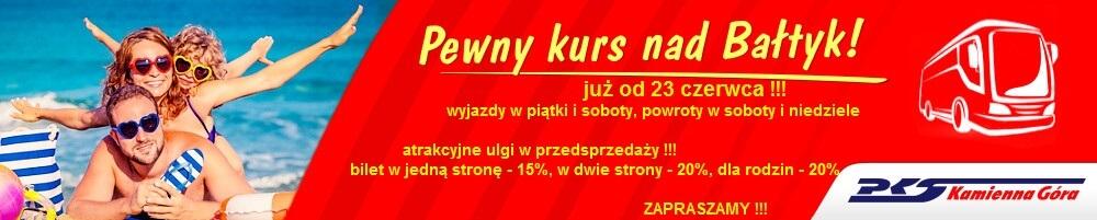 PKS Kamienna Góra - kurs nad Bałtyk
